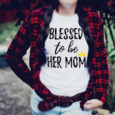 Family Clothes Mother &  Daughter T Shirt Matching Family Tee Tops Slim Blouses