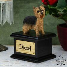 Solid Wood Dog Black, Cremation Urn / Casket, Yorkshire Terrier