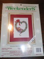 "WEEKENDERS Counted Cross Stitch Kit - HEARTFELT CHRISTMAS - 8"" x 10"""