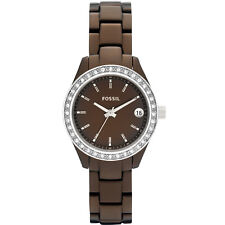 Fossil ES2963 Stella Crystal Bezel Brown Tone Date Indicator Watch