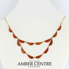 Italian Made Elegant Baltic Amber Necklace in 9ct Gold-GN0054 RRP £775!!!