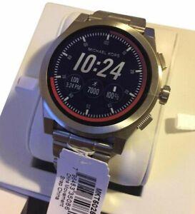 US BOUGHTMichael Kors MKT5025 Access Grayson Silver Tone Touch Screen Smartwatch
