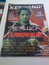 """REVISTA """"KERRANG! NUMERO 89"""" EN MUY BUEN ESTADO METALLICA SEPULTURA POSTER SAVAT"""
