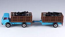 Matchbox Blue Cattle Truck MB 71 Plus Trailer Macau Mint Loose 1987 Rare!