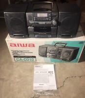 Aiwa Model CA-D210U AM/FM Stereo Cassette Player CD Player Boombox W/ Box Manual