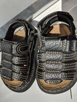 Shoes Baby Infant Toddler Sandals Brown Leather Faded Glory Size 2 New w/o tags