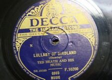 78 rpm TED HEATH & HIS MUSIC lullaby of birdland / seven eleven