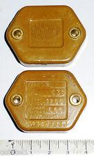 2 pavés condensateur militaire US non polarisés 33 nF TS 600 V NOS NIB SANGAMO