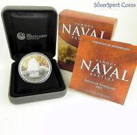2011 FAMOUS NAVAL BATTLES BATTLE OF TRAFALGAR Silver Proof Coin