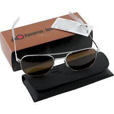 AO American Optical Aviator Silver Frames 57 mm Sunglasses Cosmentan Glass