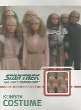 """Star Trek TNG H&V - C11 """"Klingon Costume"""" Relic Card #024/275"""