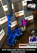 BLUE Hydraulic Adjustable Handbrake + Reservoir *Vertical OR Horizontal* Evo WRX
