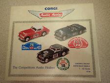 Corgi Austin Healey 3 Car Set 97730