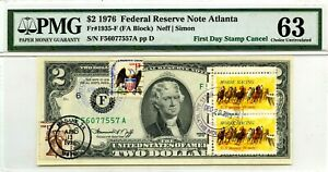 $2 DOLLARS 1976 FIRST DAY STAMP CANCEL THE HORSE RACING LUCKY MONEY VALUE $3000