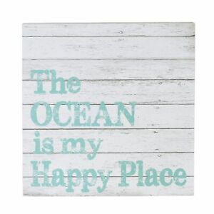 Department 56 Coast to Coast Ocean My Happy Place Sign Wall Decor 15.91 Inch