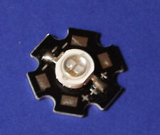 5W 365nm UV POWER  LED on HEATSINK Kühlkörper Emitter  5mm Geldschein Money