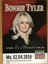 BONNIE TYLER  2018 MÜNCHEN   - orig.Concert Poster -- Konzert Plakat  A1 NEU