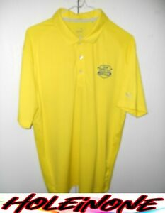 Puma Dry-Cell Men's Golf Shirt Short Sleeve Size Large Yellow Nice Polyester #H4