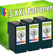 3 TINTE PATRONEN REFILL für LEXMARK Nr.1 18CX781E 18C0781E X2450 X2470 X3450 SET