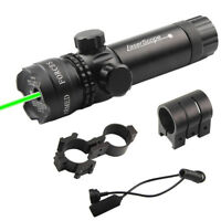 Tactical Green/Red Dot Laser Sight 532nm Sight Dot Scope Adjustable w/ 2 Mounts