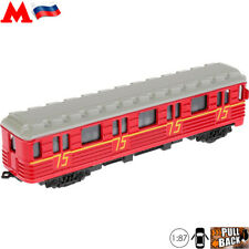 Diecast Car Toy Scale 1:87 Underground Carriage 81-717 Red Arrow Russian Subway