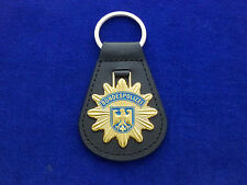 Bundespolizei Leder Schlüsselanhänger -Sternform- # BGS  # Polizei #1