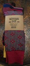 Bottoms Out hombre Crew CALCETINES MEDIA CAÑA Paquete de 3 talla única LUNARES