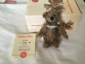 Gorgeous Miniature HERMANN Teddy Bear Boxed Jointed Hobson