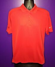 Nike Golf Men's Dri-Fit Standard Fit Polo Shirt Red Style  Size Large L