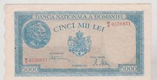 ROUMANIE ROMANIA 5000 LEI 20/12/1945 SUPERBE