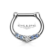 Multi cristal claro epoxy labios piercing cejas piercing circonitas z457