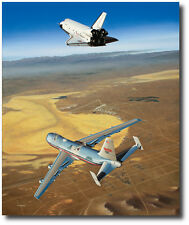 Free Enterprise by Mike Machat - Boeing 747 & Space Shuttle - Aviation Art Print