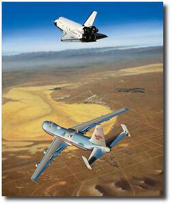 Free Enterprise by Mike Machat - Fitz Fulton & Joe Engle Signed Print - Aviation