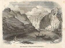 A5051 Iles Marquises - Vue de la baie de Tchitchagov - Xilografia 1843