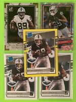 Lot (5) Bryan Edwards 2020 Donruss Rated Rookie Yellow The Rookies Elite Raiders