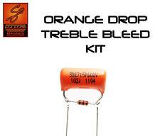 Orange drop treble bleed kit for guitar telecaster  stratocaster les paul ibanez