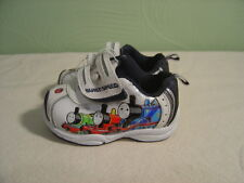 Baby/Toddler THOMAS THE TRAIN White and Navy Hook & Loop Shoes Size 4
