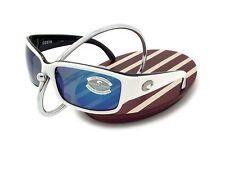 NEW Costa Del Mar CABALLITO White & Black / 580 Blue Mirror Glass 580G