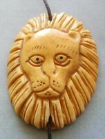 Tibet Bone Male Lion Pendant Bead