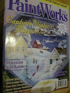 Paint Works Magazine January 2000 Cape Cod Winter Village, Chickadee, Snow Goose