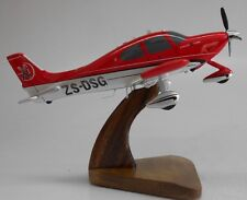 SR-22 Civil Utility Cirrus SR22 Airplane Mahogany Kiln Dry Wood Model Small New