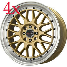 Drag Wheels DR-44 17x7.5 5x100 5x114 Gold Rims For Impreza Legacy Cavalier Jetta