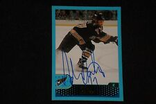 HOF ADAM OATES 2001-02 TOPPS SIGNED AUTOGRAPHED CARD #81 BOSTON BRUINS