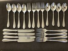 Wallace SUMMERSET 18/8 Stainless Steel Flatware 4 place settings 25 pieces