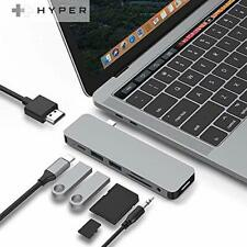 HyperDrive USB-C Hub Adapter, Sanho Solo 7-in-1 Type C Dongle for MacBook Pro,