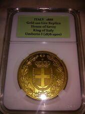 1888 ITALY Gold 100 Lire Commemorative Coin