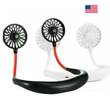 Portable Rechargeable Hanging Mini Fan Fans Neckband Sport Desk Outdoor Indoor