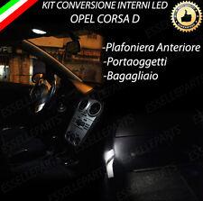 KIT LED INTERNI OPEL CORSA D ANTERIORE + LUCE PORTAOGGETTI + BAGAGLIAIO CANBUS