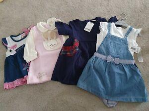 Baby girl 12-18 Months Dresses Bundle New Next Matalan French Designer