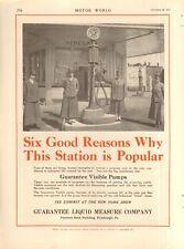 1917 GUARANTEE LIQUID MEASURE CO. VISIBLE PUMPS  GASOLINE ORIGINAL VINTAGE AD